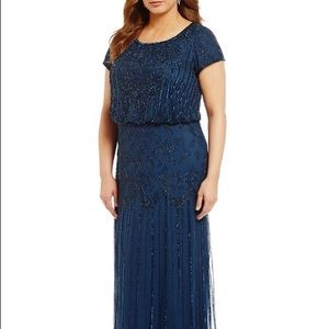 Adrianna Papell beaded gown size 18